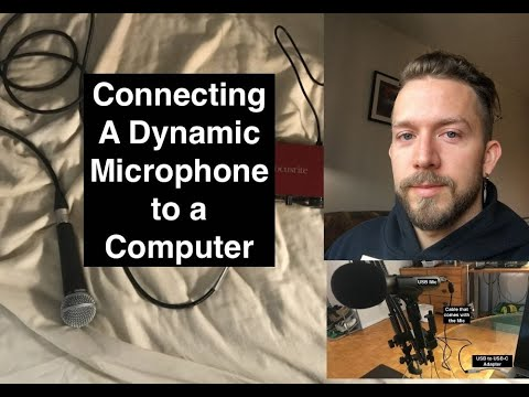 How to Connect a Dynamic Microphone to a Computer