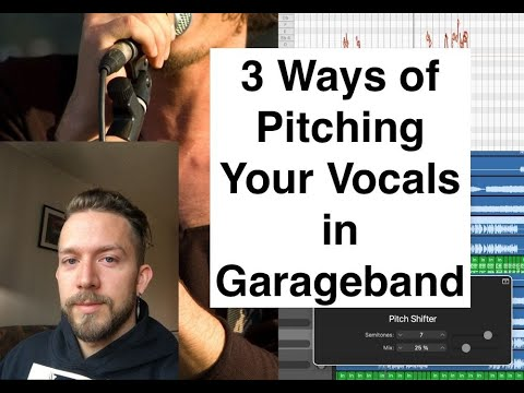 How to Pitch Your Vocals in Garageband
