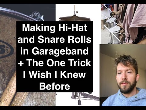 How To Make Hi Hat and Snare Rolls in Garageband