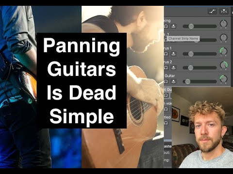 How to Pan Guitars in the Mix (Garageband and More)