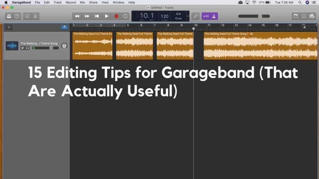 Garageband tips and tricks mac