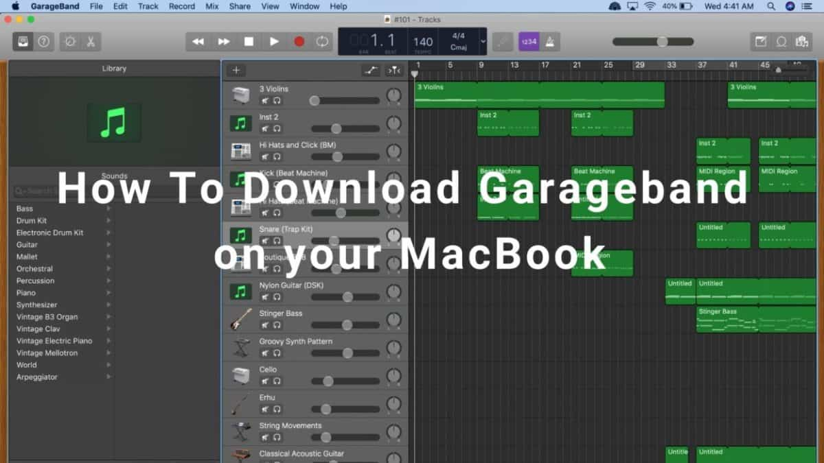 How To Download garageband on your macbook