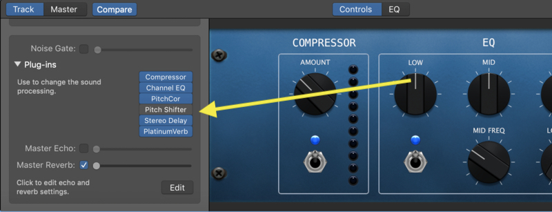 Compressor (1) Auto-Tune and Garageband