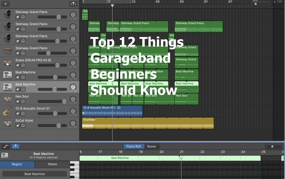 Top 12 Things Garageband Beginners Should Know