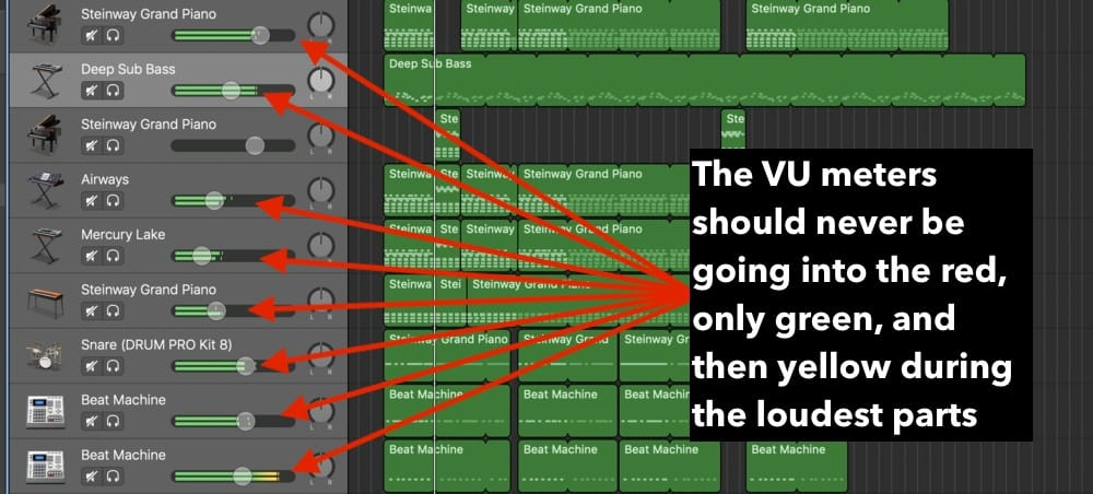 1 Vu Meters (Edited) How To Master A Song In Garageband