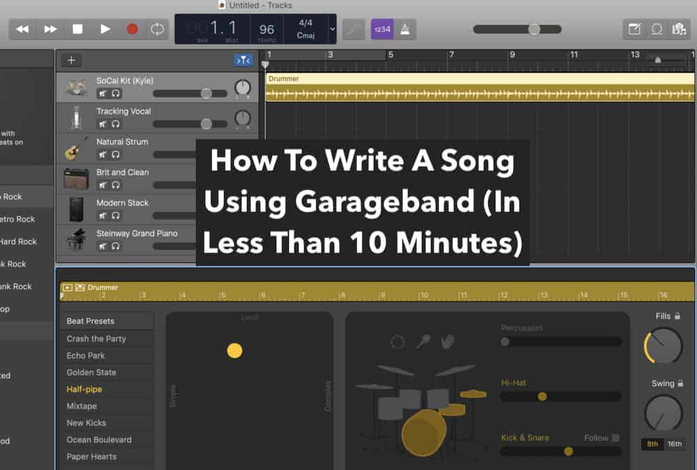 How To Write A Song In Garageband (Edited)