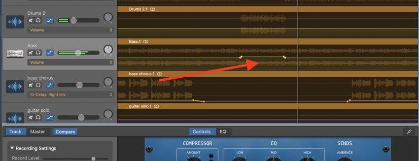 14-Panning-Bass-Automation in Garageband-Edited