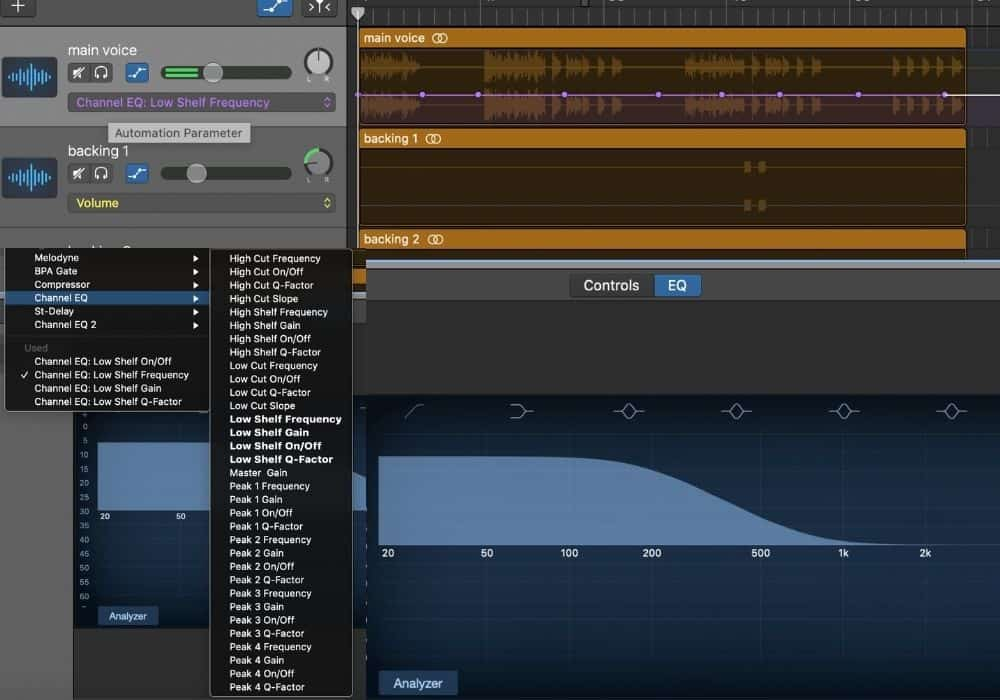 How To Automate EQ in Garageband