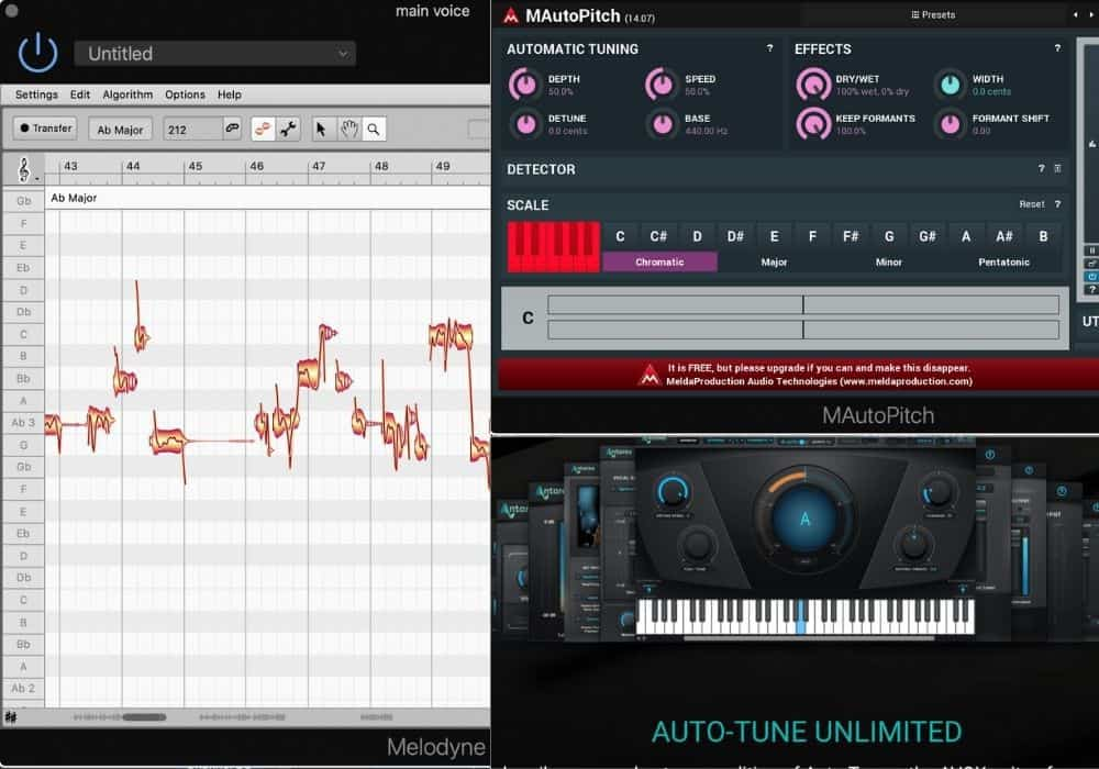 Melodyne MAutoPItch Antares AutoTune