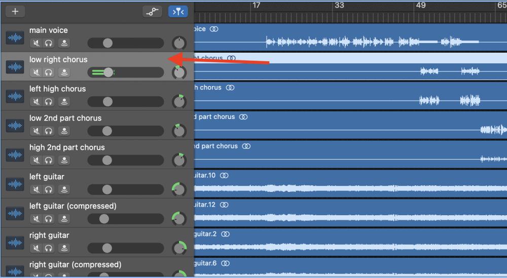 Highlight Vocal Track