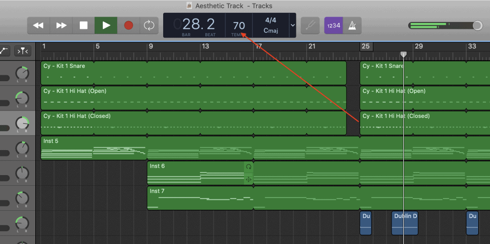 Slow BPM - How to Make an Aesthetic Track in Garageband