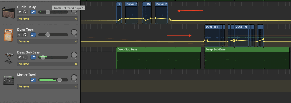 Automation on the Guitars - How to Make an Aesthetic Track in Garageband