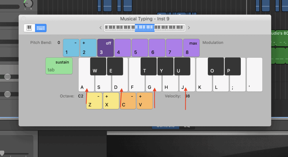 C Major 7th - How to Make an Aesthetic Track in Garageband