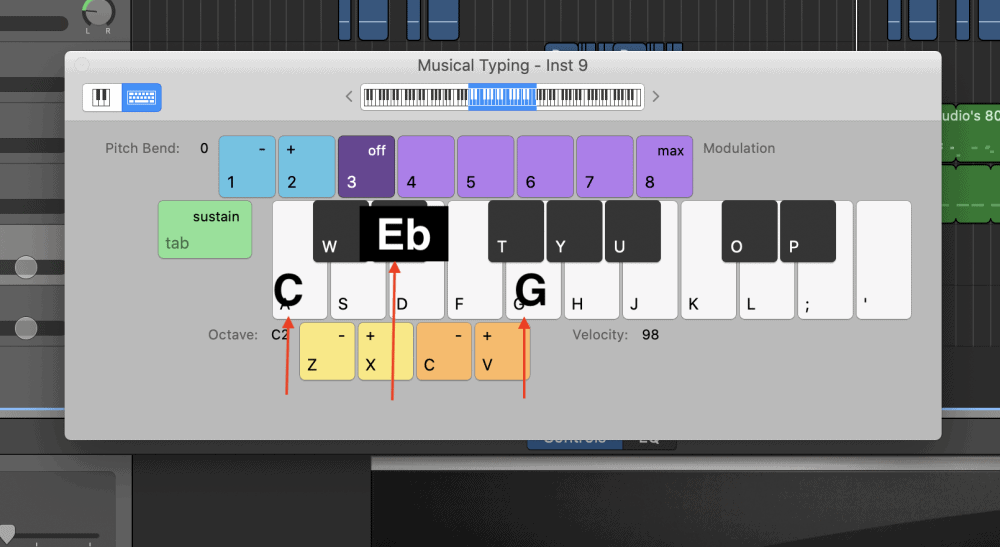 C Minor - How to Make an Aesthetic Track in Garageband