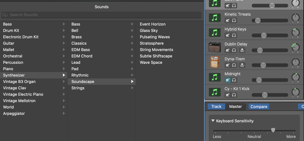 Soundscape Instruments - How to Make an Aesthetic Track in Garageband