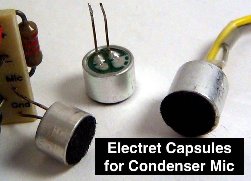 Electret Capsules for Condenser Mic