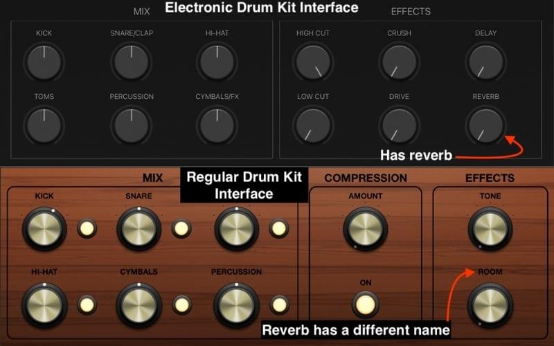 Drum Kit vs, Electronic Drum Kit Interface