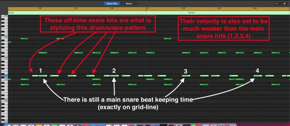Snare Off Time versus On Time
