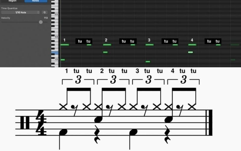 Shuffle Pattern - How to Create Drums in Garageband
