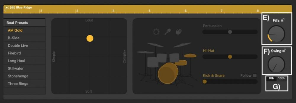Fills - How to Create Drums in Garageband
