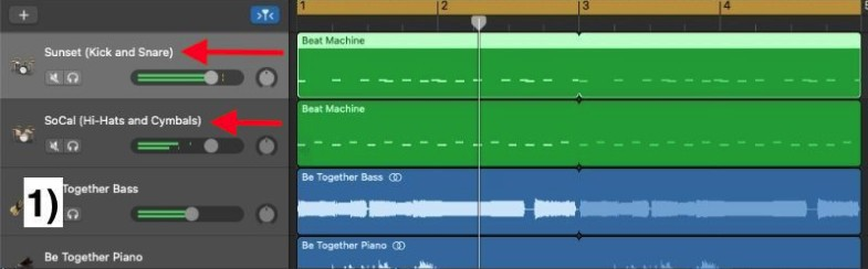 Mix Different Drum Kit Parts Together - How to Create Drums in Garageband