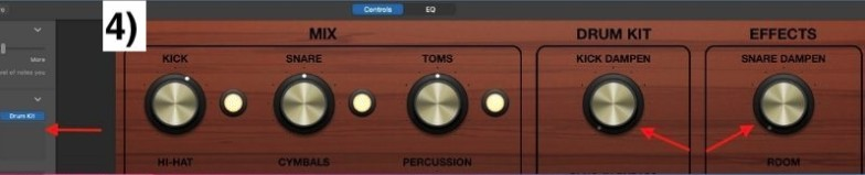 Dampen Kick and Snare - How to Create Drums in Garageband