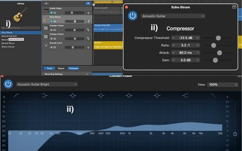 Garageband Presets and Settings