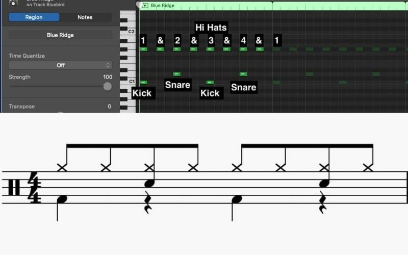 Eighth Note Pattern #2 - How to Create Drums in Garageband
