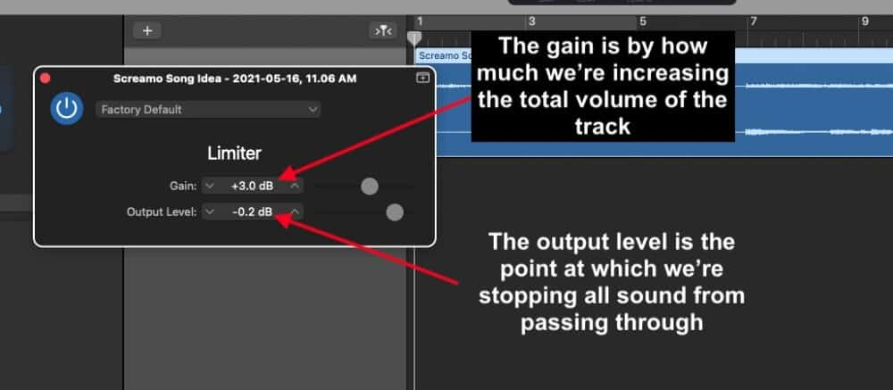 Gain and Output Level - How to Make Beats in Garageband