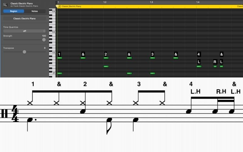 Syncopated Pattern With a Fill - How to Create Drums in Garageband