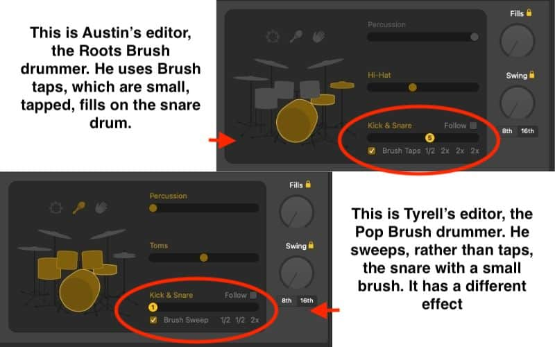 Brush Sweeps and Brush Taps - How to Create Drums in Garageband