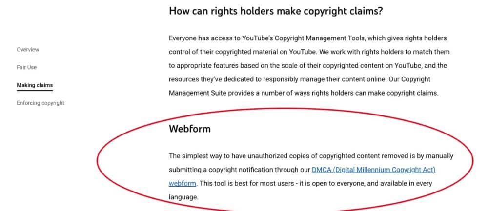 DMCA Webform YouTube - Can you Publish Songs Made In Garageband