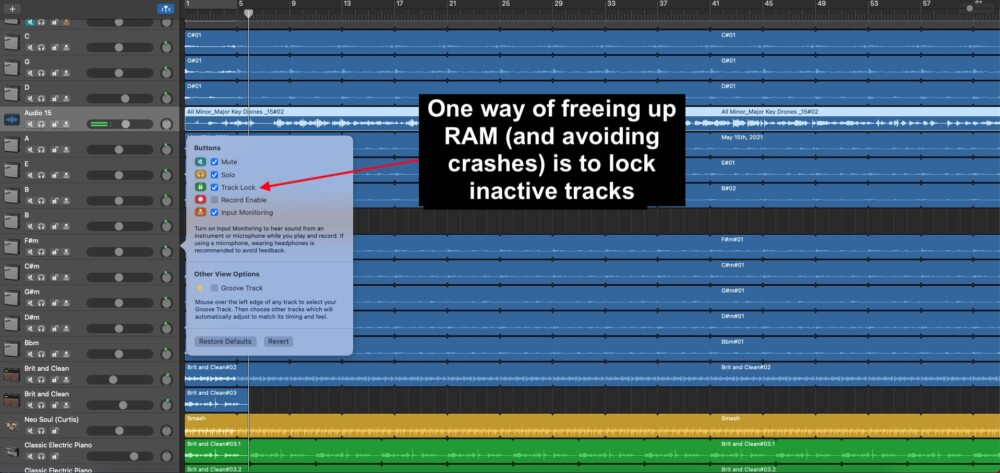 Locking Tracks - What Does RAM Do For Music Production
