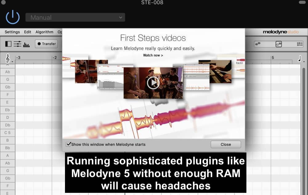 Melodyne-5-Studio - What RAM Does for Music Production