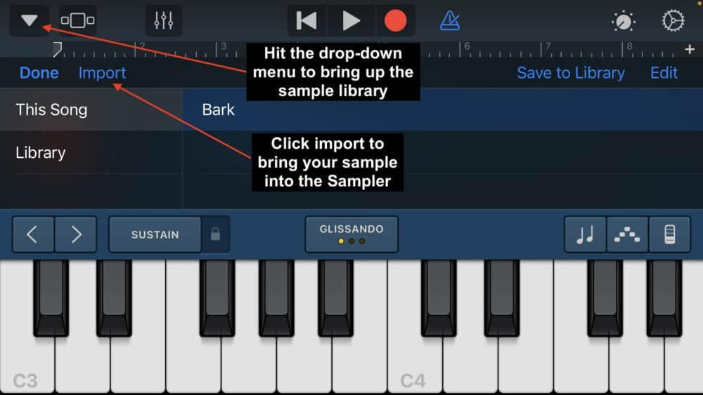 Sampling in iOS Garageband - Does Garageband Have A Sampler