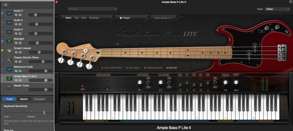 Ample-Bass-P-Lite-How-to-Make-A-Metal-Song-in-Garageband