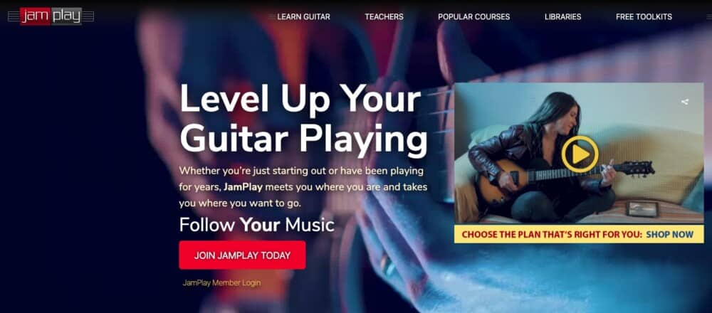 JamPlay - Recommended Products Page