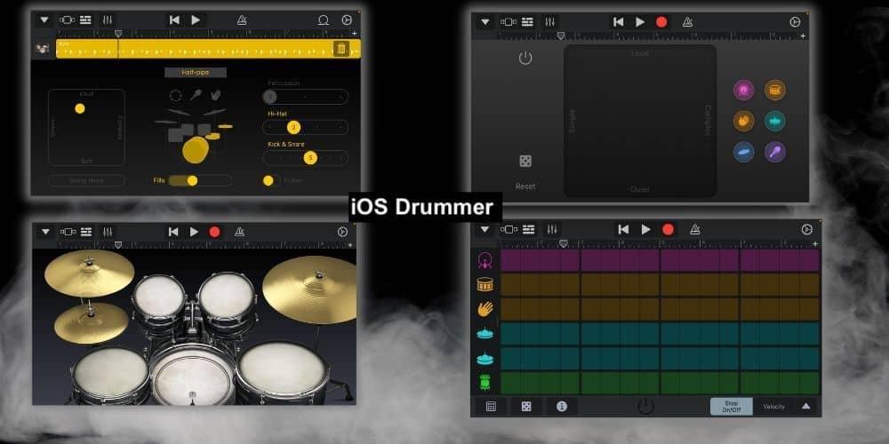 iOS Garageband Drummer Interfaces