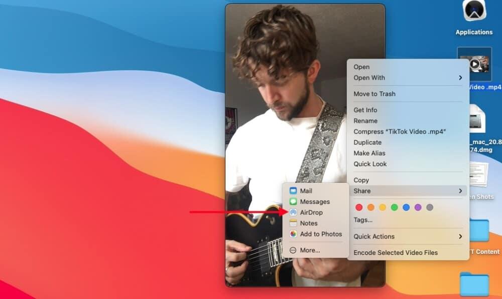 AirDrop - How to Make Guitar TikTok Videos