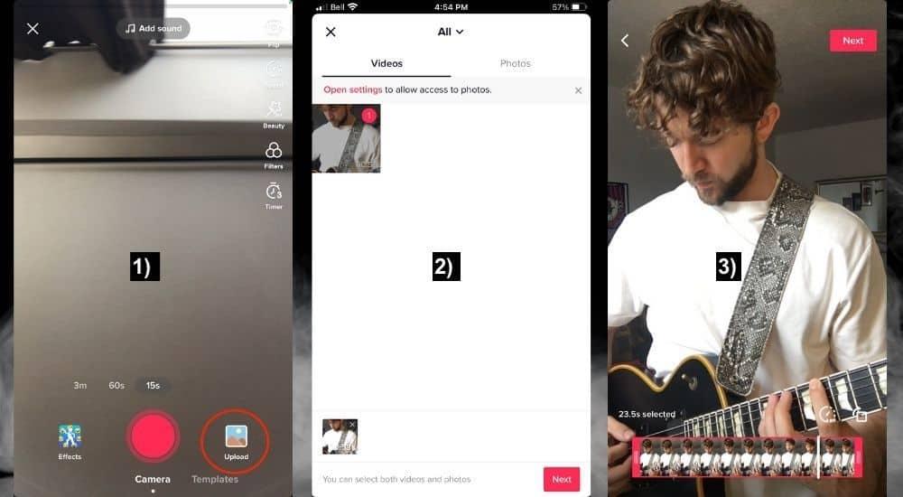 TikTok Upload - How to Make Guitar TikTok Videos