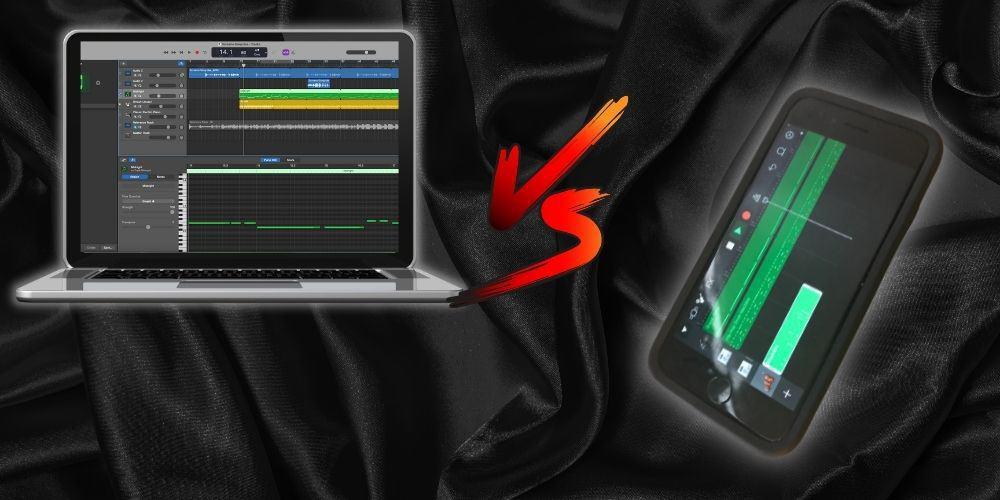 macOS versus iOS Garageband