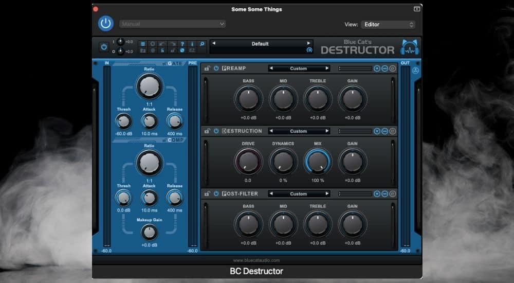 Blue Cat Audio's Destructor - Best Plugins for Garageband