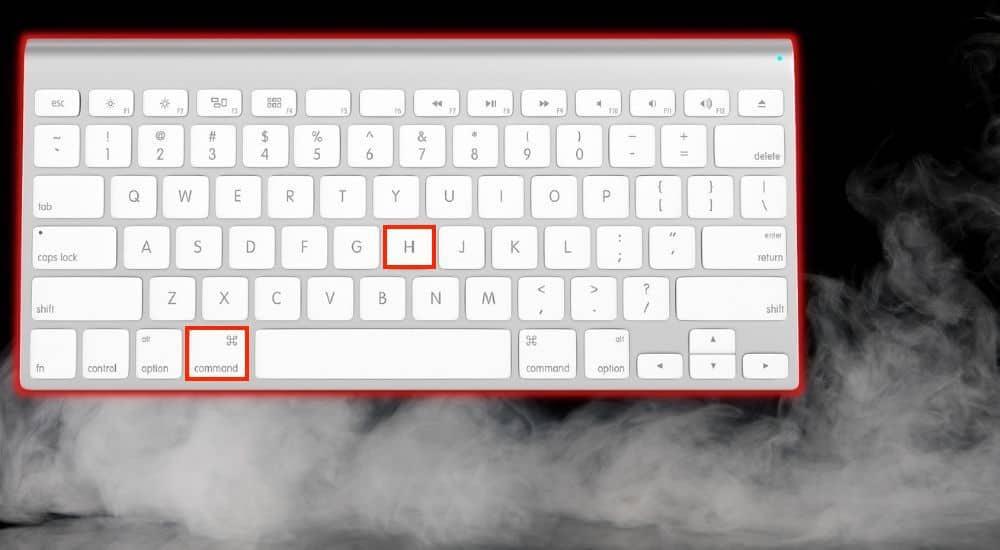 Command + H Hide Garageband - Keyboard Shortcuts Article
