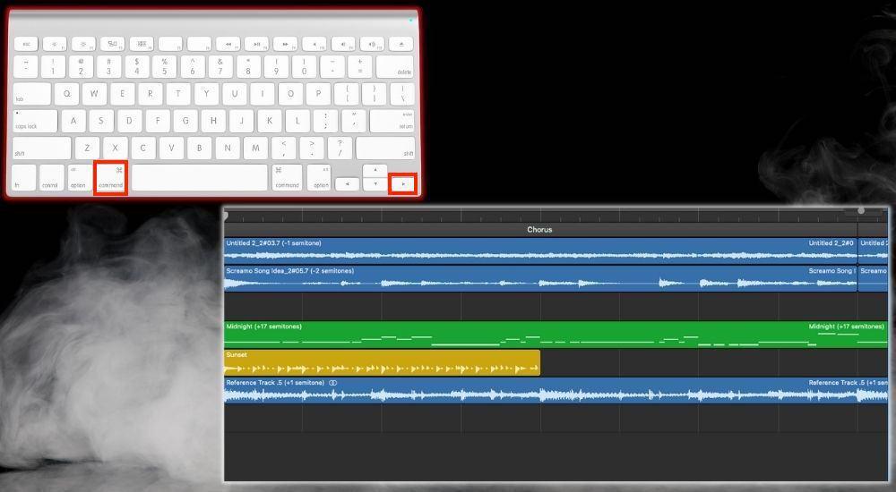 Command + Right Arrow Zoom In - Keyboard Shortcuts