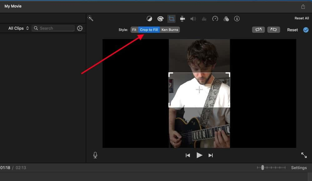 Crop to Fill - How to Make Guitar Videos for TikTok