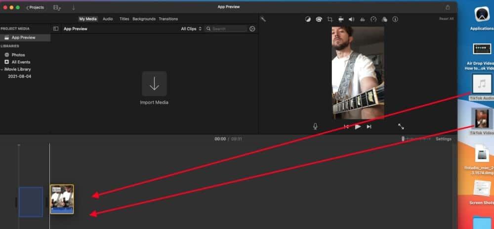 Drag to iMovie - How to Make Guitar Videos for TikTok
