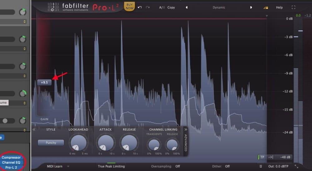 FabFilter Pro-L 2 - Best Plugins for Garageband