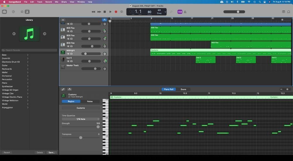 Garageband Interface - How to Make Guitar Videos on TikTok