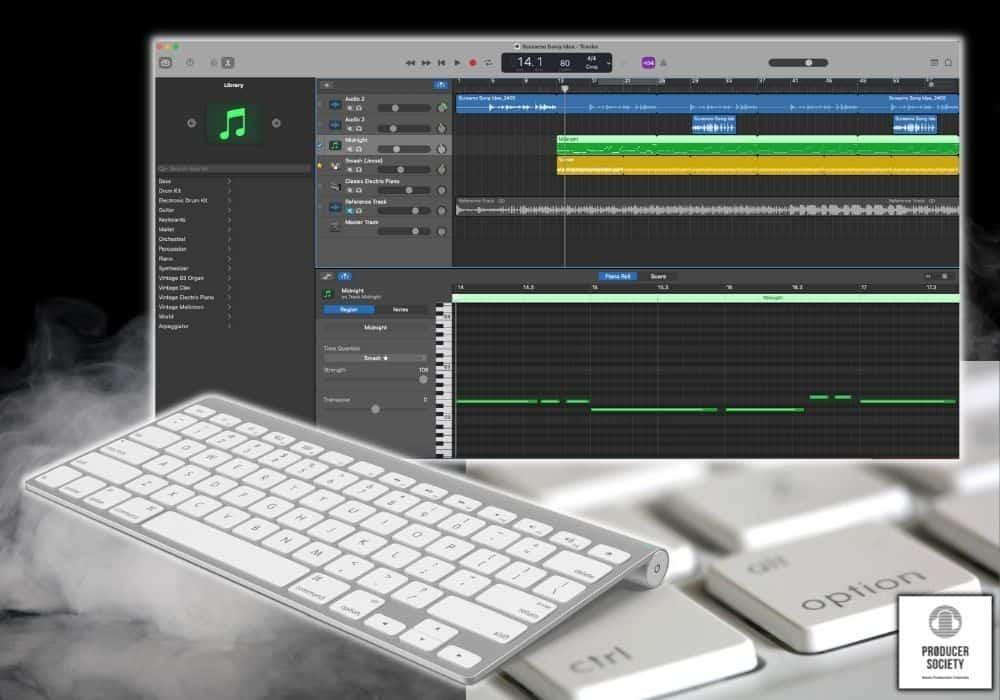 Garageband Keyboard Shortcuts - Featured Image