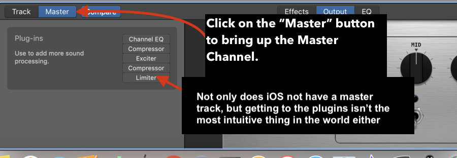 Master Track - iOS versus macOS